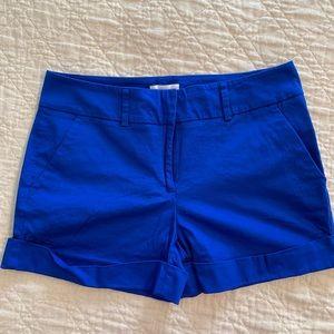 NWOT Royal Blue Sateen Shorts - New York & Company